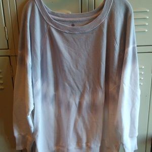 Ombre Light Blue to Grey Weekend Sweater